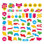 Web stickers banners and labels vector illustration
