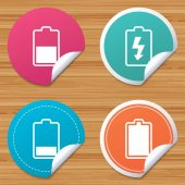 Battery charging icons vector illustration
