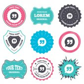 Label and badge templates