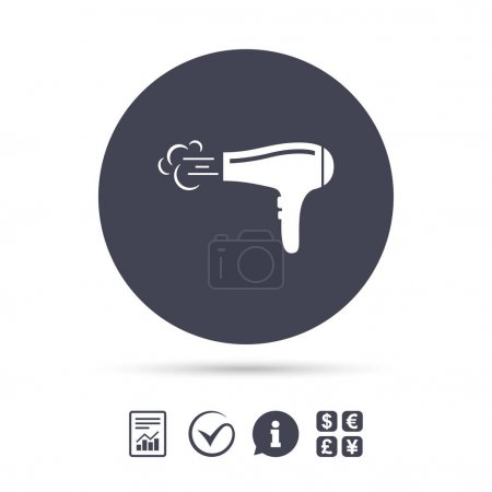 Hairdryer sign icon