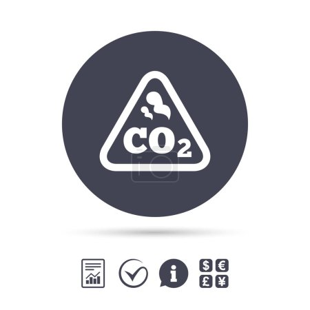 CO2 carbon dioxide formula icon