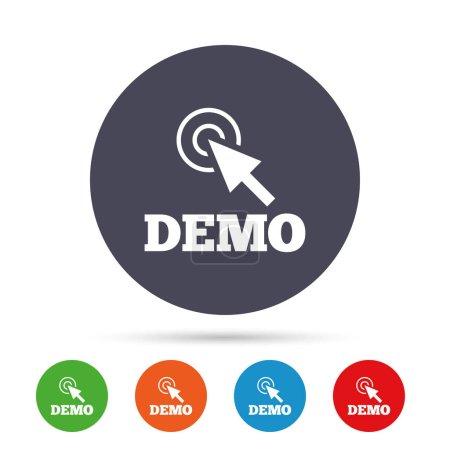 Demo with cursor  icon