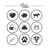 Veterinary pets icons