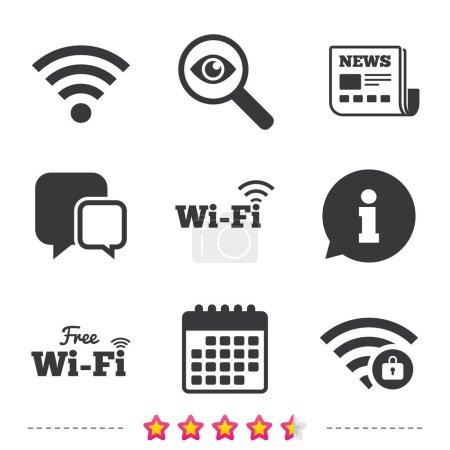 Free Wifi Wireless Network icons.