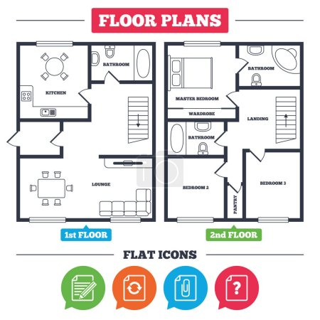 Architecture plan and icons