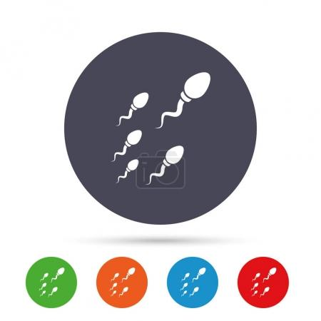 Sperm icons set