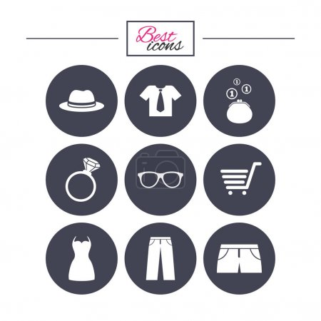 Clothes, accessories icons