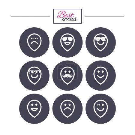 Smile icons set