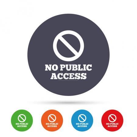 No public access icons set