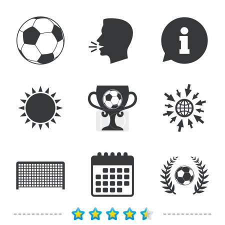 Football icons set