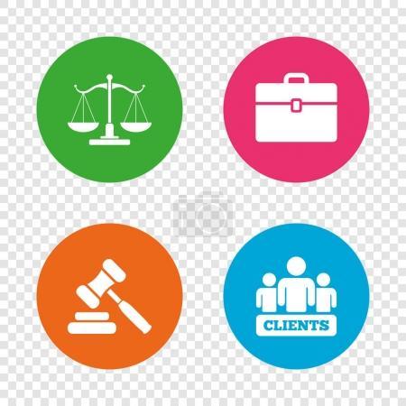 jeu d'icônes de la justice
