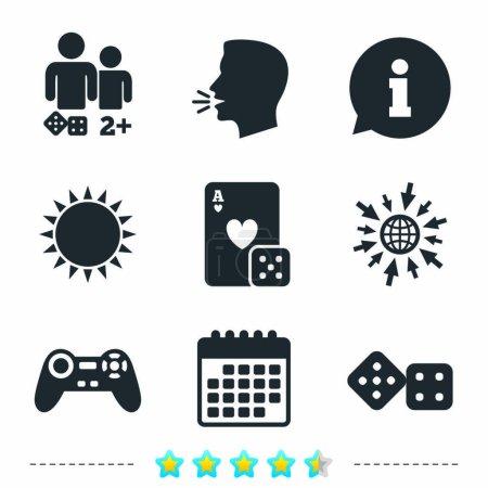 Gamer icons set