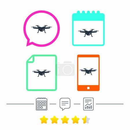 Quadrocopter icons set