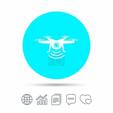 Quadrocopter with action camera icon