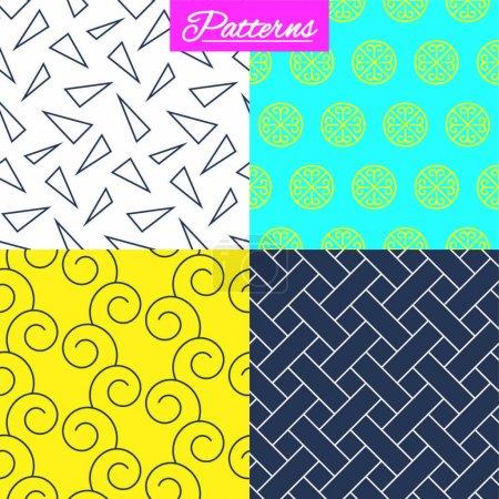 Modern textures set