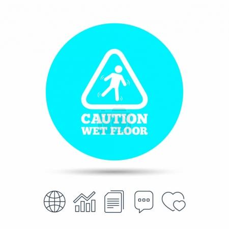 Caution wet floor icon