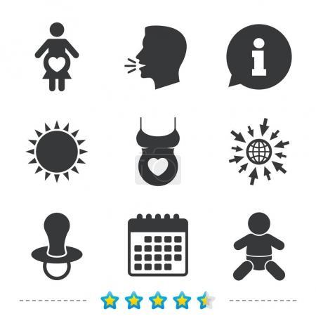 Maternity icons set