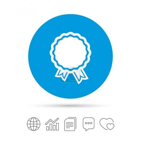 Award flat icon.