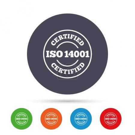 ISO 14001 certified signs