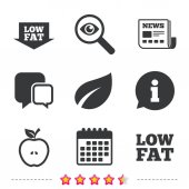 Low fat icons