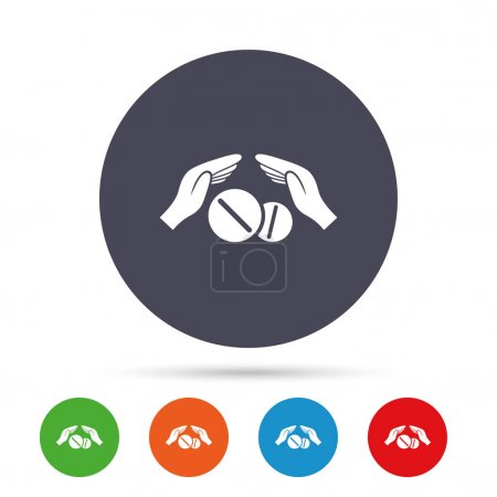 Medical insurance sign icons