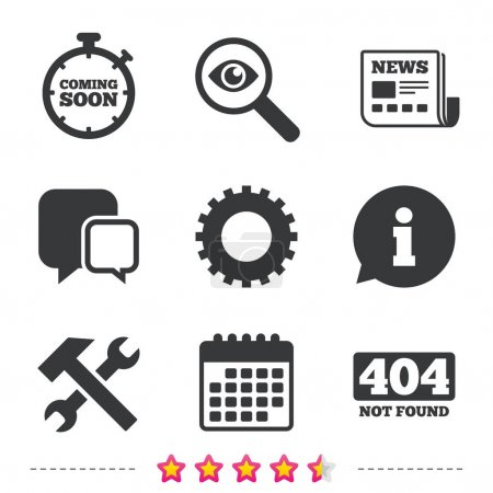 Repair service tool and gear icons