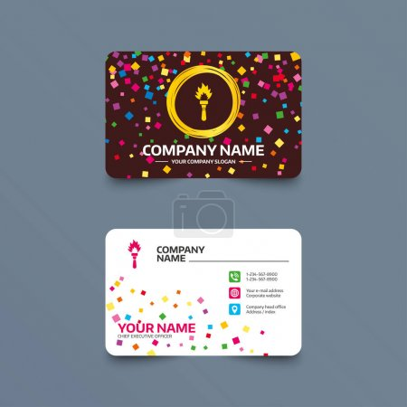 Visiting card icon