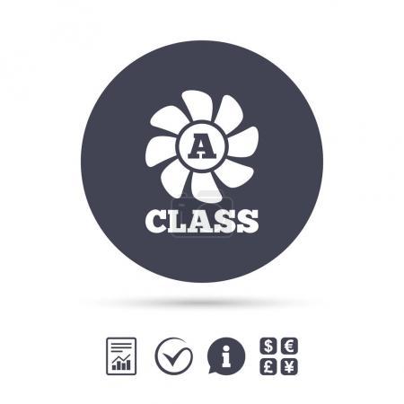 Energy efficiency class icon