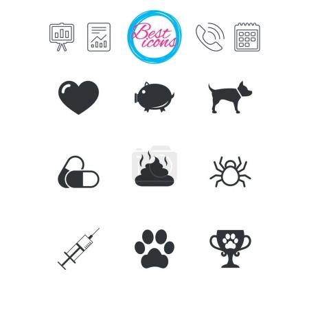 Veterinary and pets icons.