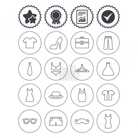 Clothes and accessories icons
