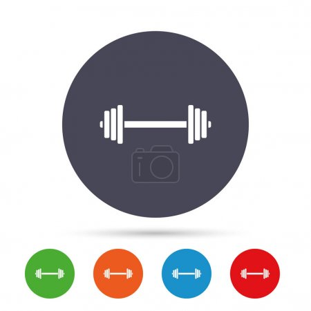 Barbell sign icon