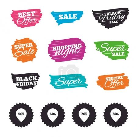 Sale pointer tag icons