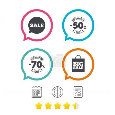 Sale speech bubble icons