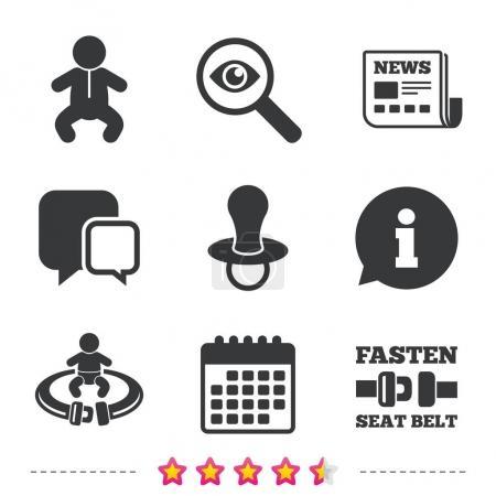 Newborn icons set