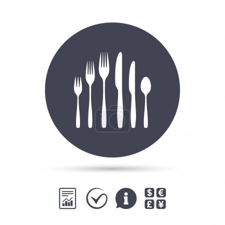 fork with knives and teaspoon icon