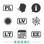 Language icons set