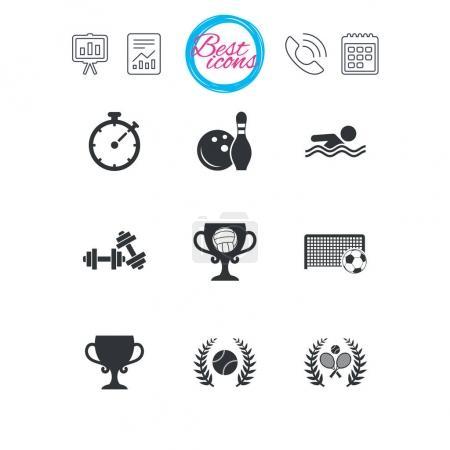 Sport flat logos