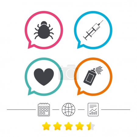 Bug and vaccine icons