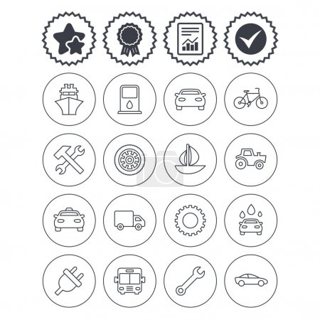 Transport, services icons.