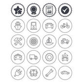 Transport services icons