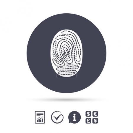 Fingerprint sign icon