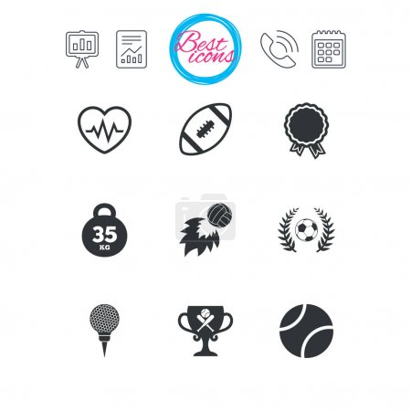 Sport games, fitness icons set