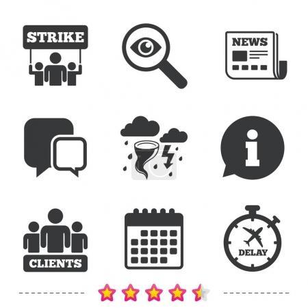 Strike icons set