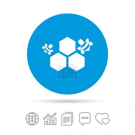 Honeycomb sign icon.