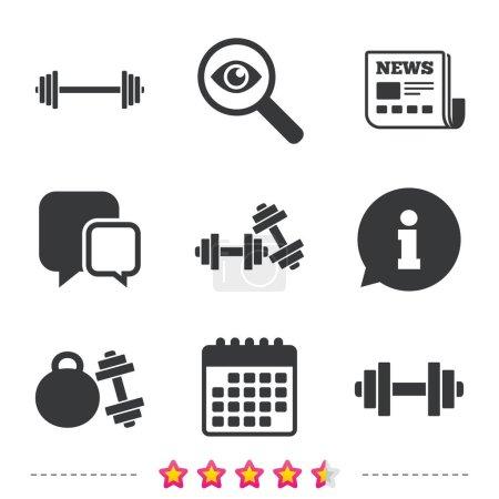 Fitness sport symbols.