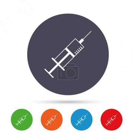 Syringe sign icon.