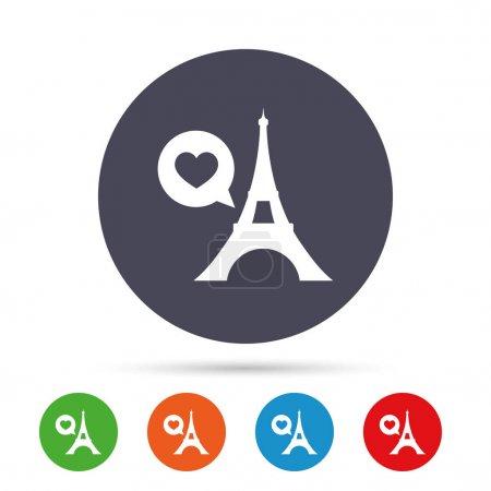 Eiffel tower icon. Paris symbol.