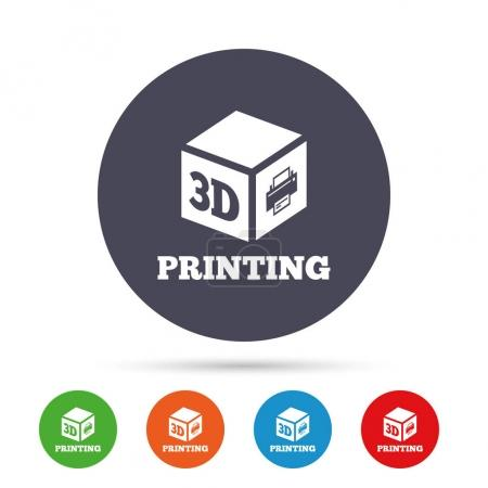 3D Print sign icon.