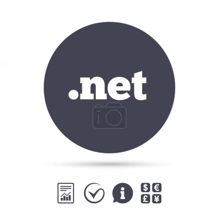 Domain NET sign icon.