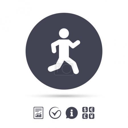 Running sign icon.